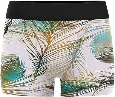 INTERESTPRINT Boxer Briefs Mens Underwear Feather XS-3XL