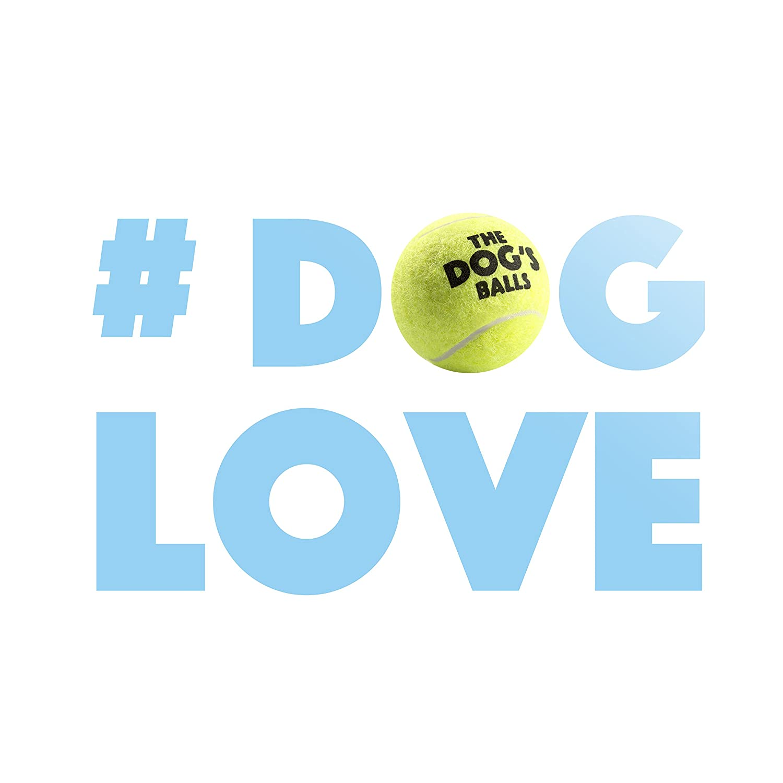 The Big Dogs Balls Large Dog Tennis Balls 3-Pack Yellow Dog Toy Premium Strong Dog Tennis Ball
