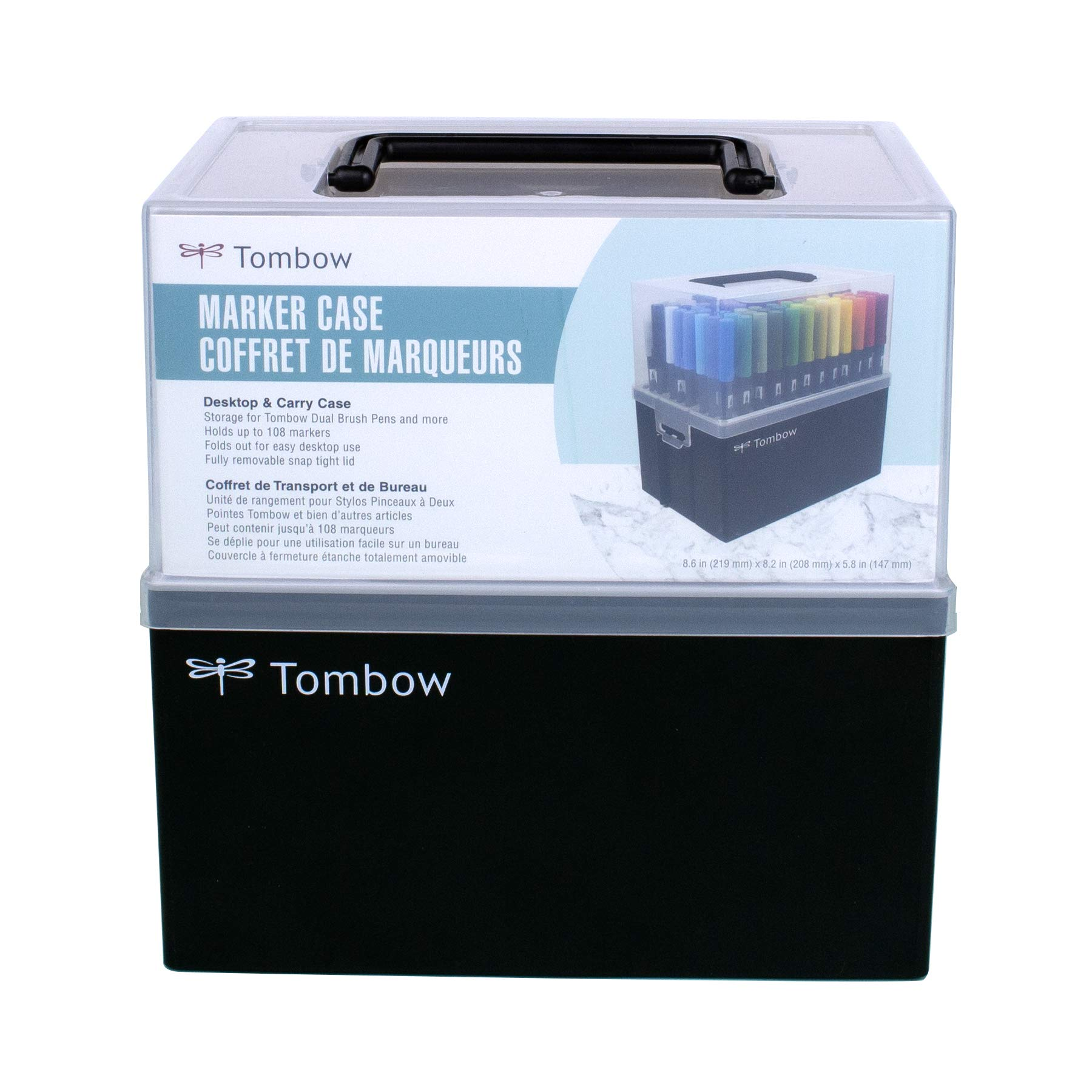 Tombow 56178 Marker Case. Easily Stores and Organizes 108 of Your Favorite Tombow Products