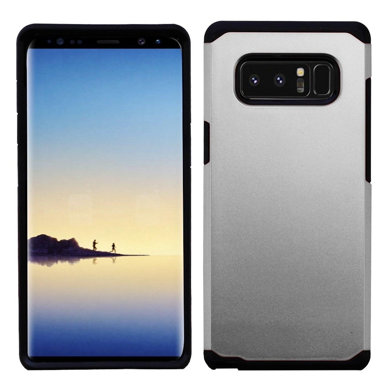 Galaxy Note 8ケース、MYBAT Astronootデュアルレイヤ[衝撃吸収]保護ハイブリッドPC / TPUラバーケースカバーfor Samsung Galaxy Note 8 2378692  ホワイト/ブラック B0757SVVPL