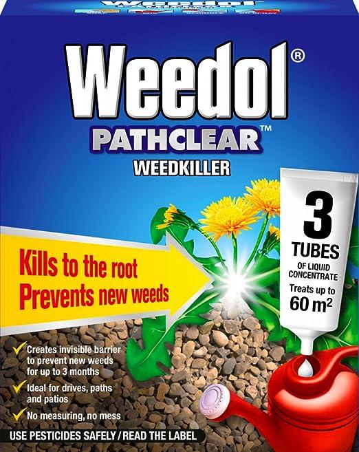 Jardín herbicida mata malezas y raíces Pathclear herbicida PC caja de 3 sobres: Amazon.es: Hogar