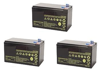 Fla Electronic - Kit de 3 baterías de plomo cíclicas de 12V ...