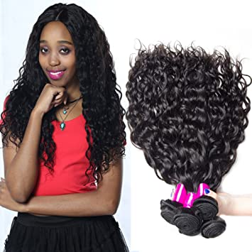 Amazon brazilian virgin hair water wave weave human hair 4 brazilian virgin hair water wave weave human hair 4 bundles unprocessed human hair weave extensions 12 pmusecretfo Images
