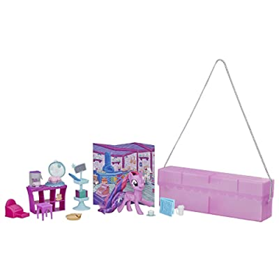"""My Little Pony Toy On-The-Go Twilight Sparkle -- Purple 3"""" Pony Figure with 14 Accessories & Storage Case, Kids Ages 3 Years Old & Up: Toys & Games"""