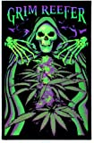 Grim Reefer Marijuana Pot Blacklight Poster Print 24 x 36in