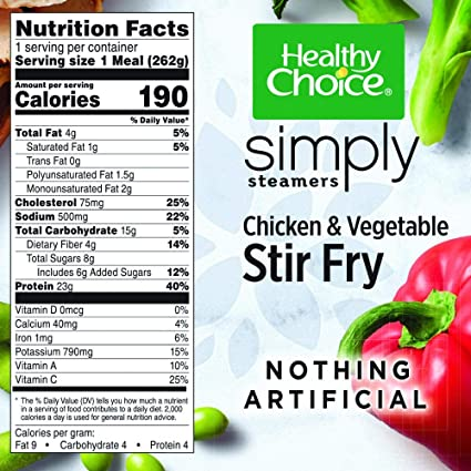 Healthy Choice Simply Steamers Frozen Dinner Chicken Vegetable