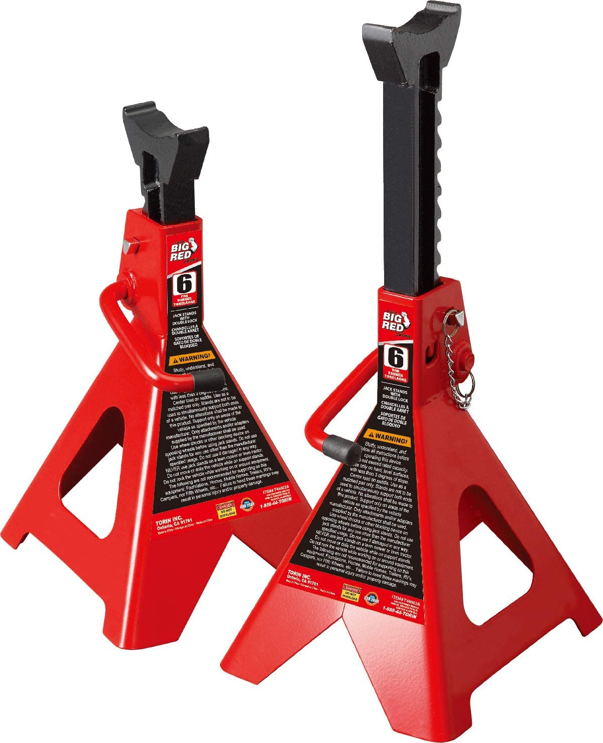 Torin T43002A Big Red Steel 3-Ton Jack Stand