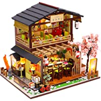 Fsolis DIY Dollhouse Miniature Kit with Furniture, 3D Wooden Miniature House with Dust Cover and Music Movement…