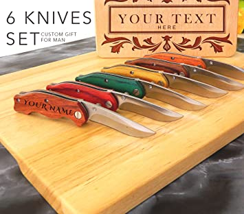 SET 6 cuchillos, cuchillos personalizados, cuchillos ...