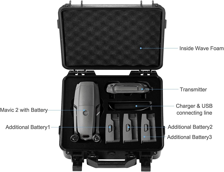 for Mavic 2 Pro and Zoom Drones Waterproof and Shockproof Koozam DJI Mavic 2 Waterproof Hard Case