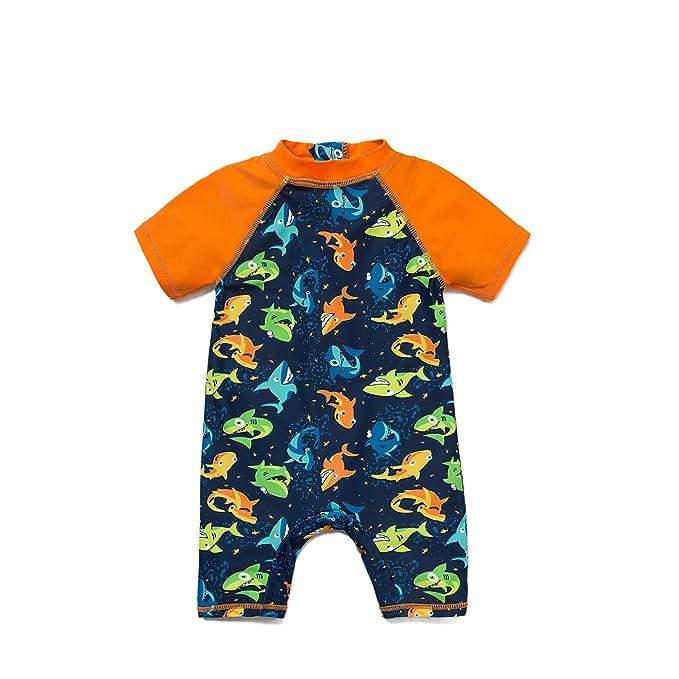 Amazon.com: Bonverano (TM Baby Boy UV traje de baño UPF 50+ ...