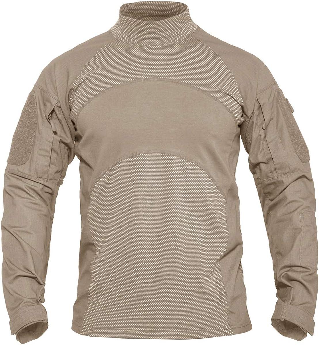 KEFITEVD - Camiseta táctica de manga larga para hombre, diseño del ejército estadounidense: Amazon.es: Ropa y accesorios