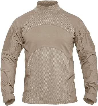KEFITEVD - Camiseta táctica de manga larga para hombre, estilo militar, talla ajustada: Amazon.es: Ropa y accesorios