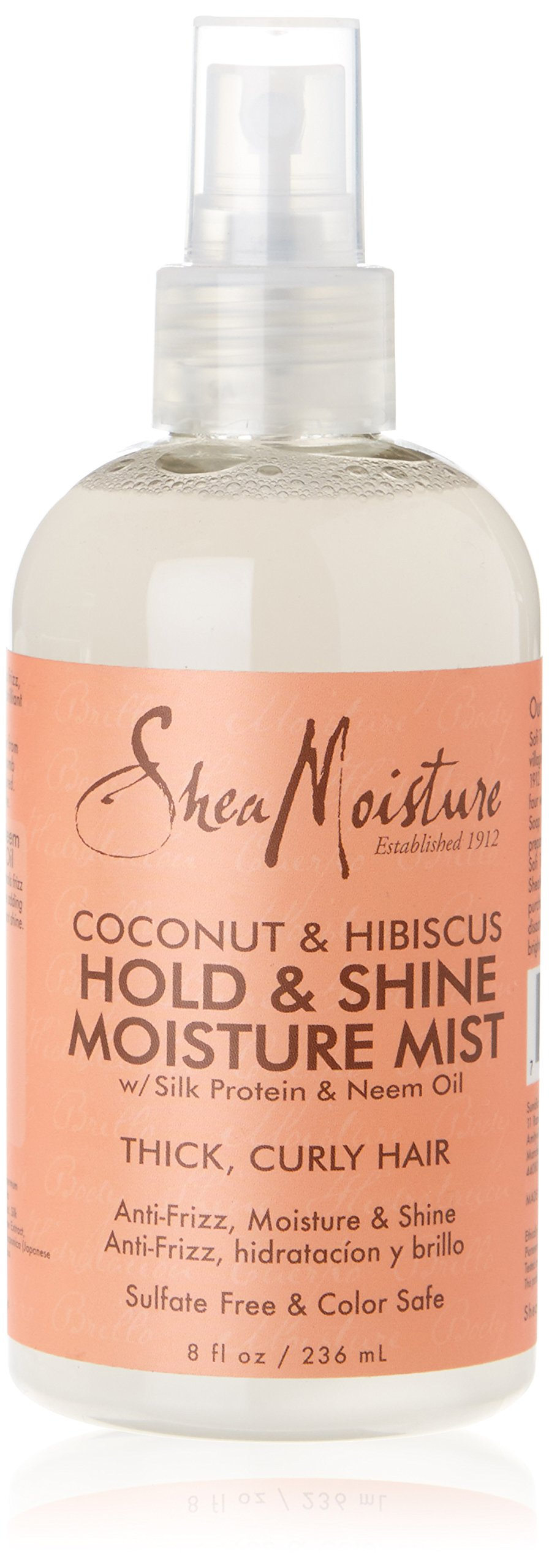 Shea Moisture Coconut Hibiscus Hold & Shine Daily Moisture Mist, 8 Ounce