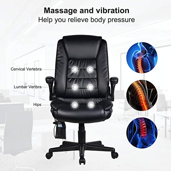 Amazon.com: Cungon Online Silla de oficina de masaje con ...