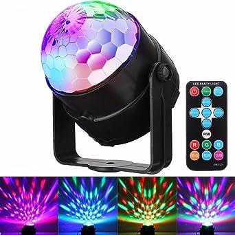 Amazoncom DJ Disco Lights GLISTENY Disco Ball Light Sound - Strobe lights for bedroom