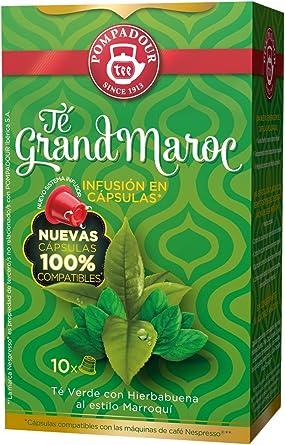 Pompadour Grand Maroc Té - 10 Cápsulas - [pack de 2]: Amazon.es ...