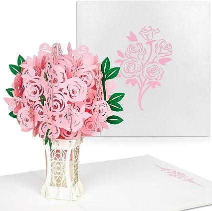 Carte Anniversaire Mariage Carte 3d Carte Pop Up Carte Mariage 3d Avec Enveloppe Couple Romantique Pour Saint Valentin Anniversaire Noel Nouvel An Rose Amazon Fr Fournitures De Bureau