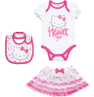 ca359bf74 Amazon.com: Hello Kitty Baby Girls' 3-Pack Bodysuits: Clothing