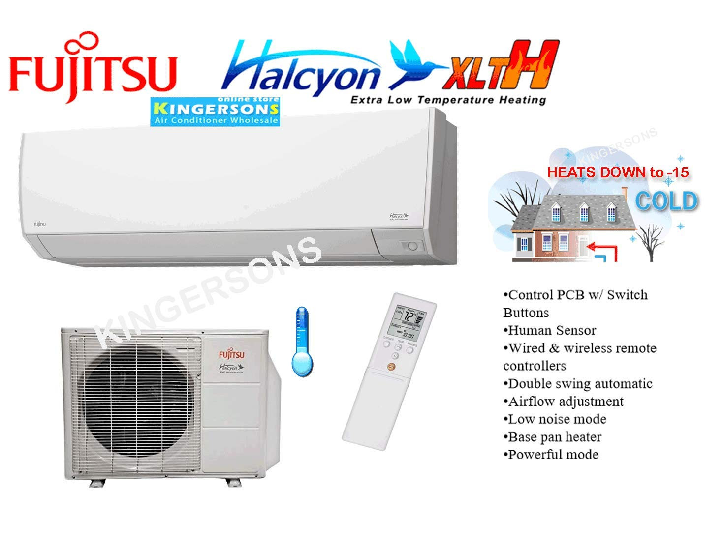 Fujitsu 1 Ton 12000 Btu Cooling Heating Ductless Split