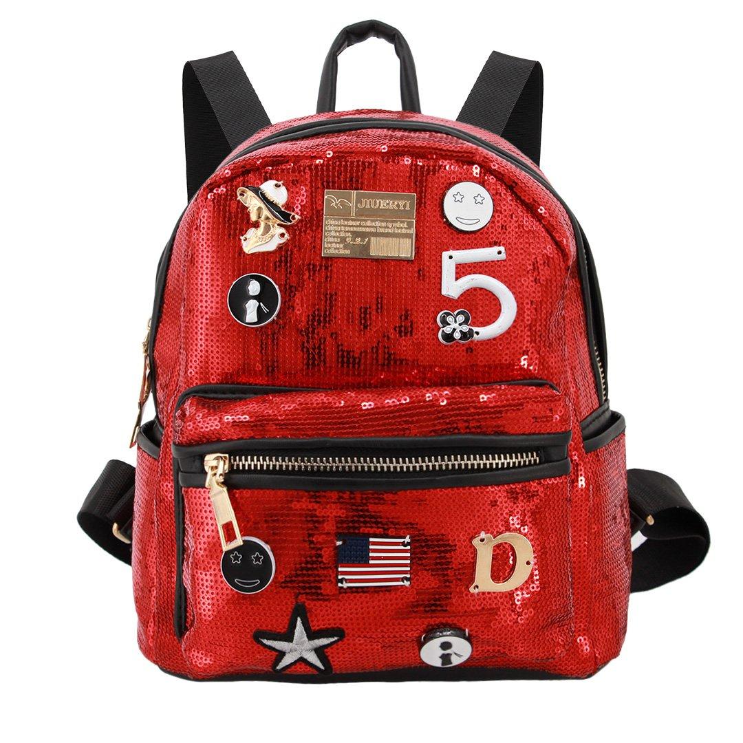 41482b0ec97c Liliam Girls Student Fashion Sequin Backpack Daypack Shoulder Travel Bag  Satchel Totes