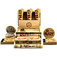 Raw Small Wooden Rolling Box | Raw Smokers Gift Set | Beautiful andDiscreet Wooden Tobacco Box