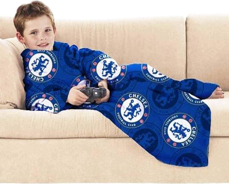100/% poliestere motivo: Chelsea Football CF Designs Coperta in pile con maniche in pile per giocatori