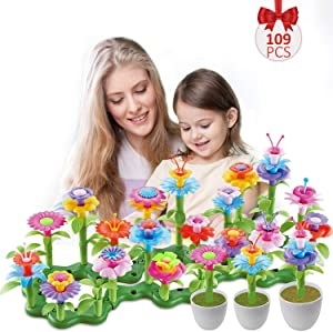 Hugo's Ocean Flower Garden Building Toys 109pcs Girls Kids Toddles Gifts for 3 4 5 6 7 Year Old
