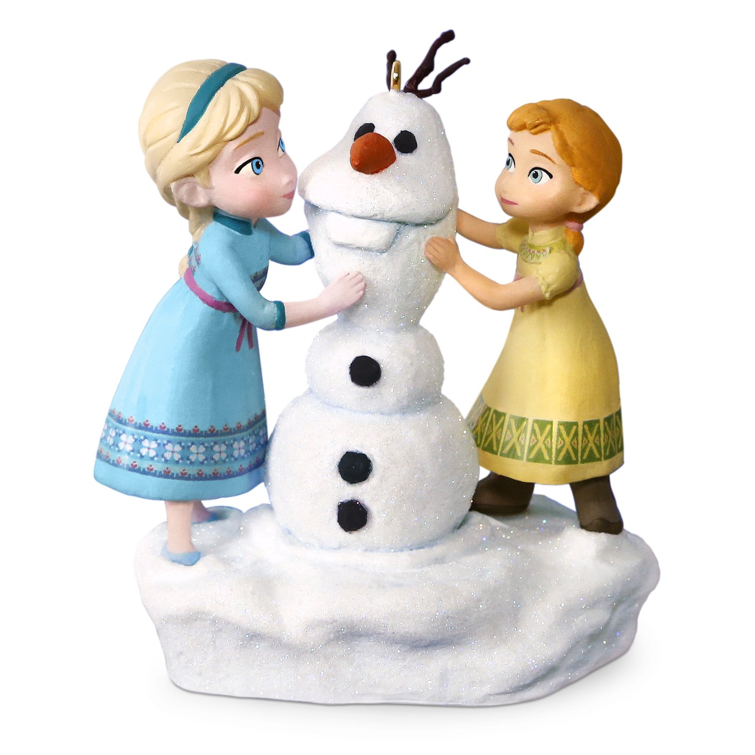 Frozen Anna and Elsa Build a Snowman Musical Ornament