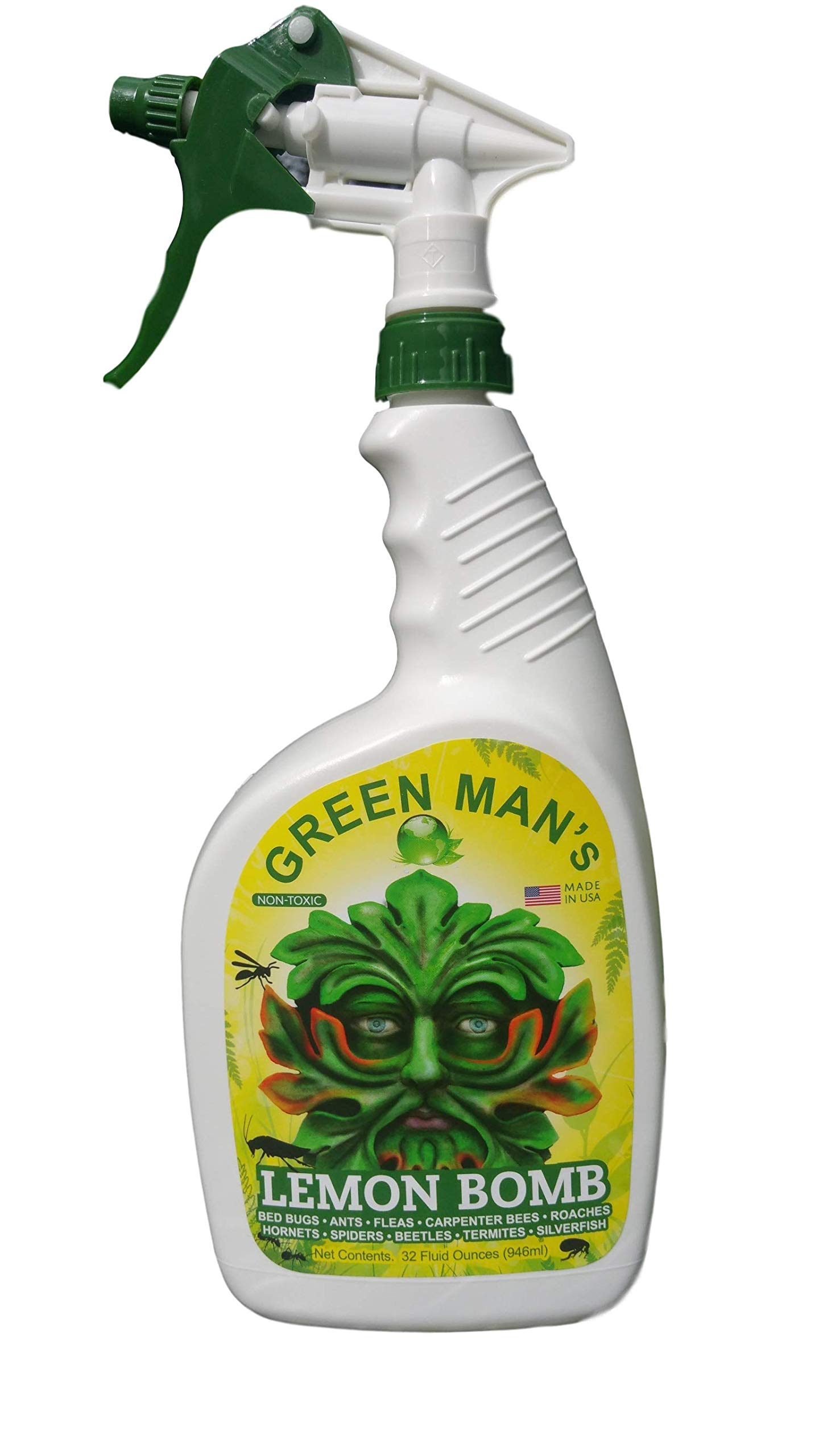 Green Man's Lemon Bomb - 32oz. Non Toxic Bug Spray by Green Man's