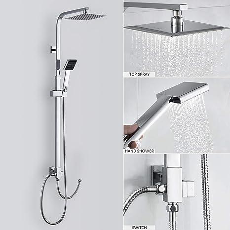 Gut bekannt Duschset ohne Wasserhahn) Duscharmatur Regendusche Duschbrause VG48