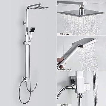 Duschset Ohne Wasserhahn Duscharmatur Regendusche Duschbrause