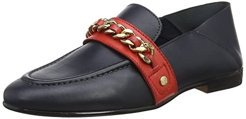 424b09ce3 Tommy Hilfiger Women s Chain Detail Corporate Loafer