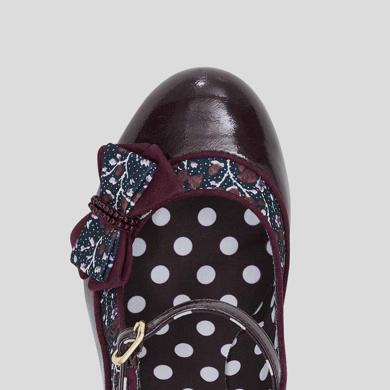 Ruby Shoo Womens Burgundy Camilla Mid Heel Mary Jane Shoes /& Matching Casablanca Bag UK 7