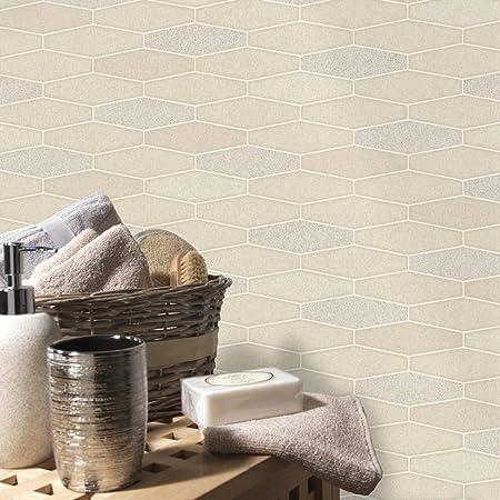 Entzuckend Fesselnd Holden Apex Fliesen Effekt Muster Tapete Marmor Glitzer Motiv  Küche Badezimmer Creme 89271: Amazon