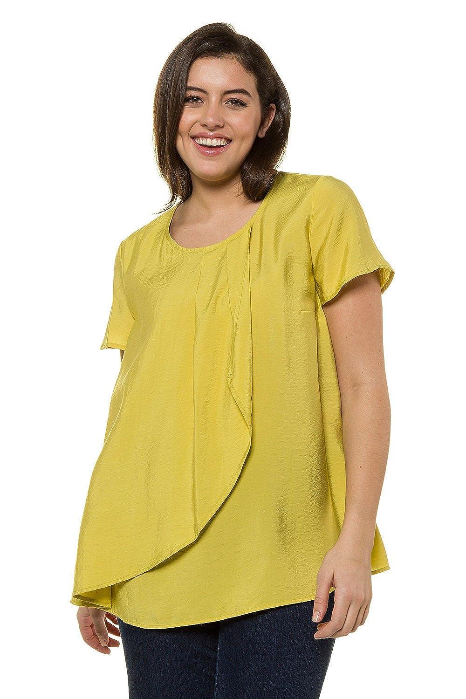Ulla Popken 714929-Blusa Mujer Verde Lima 64: Amazon.es: Ropa y accesorios