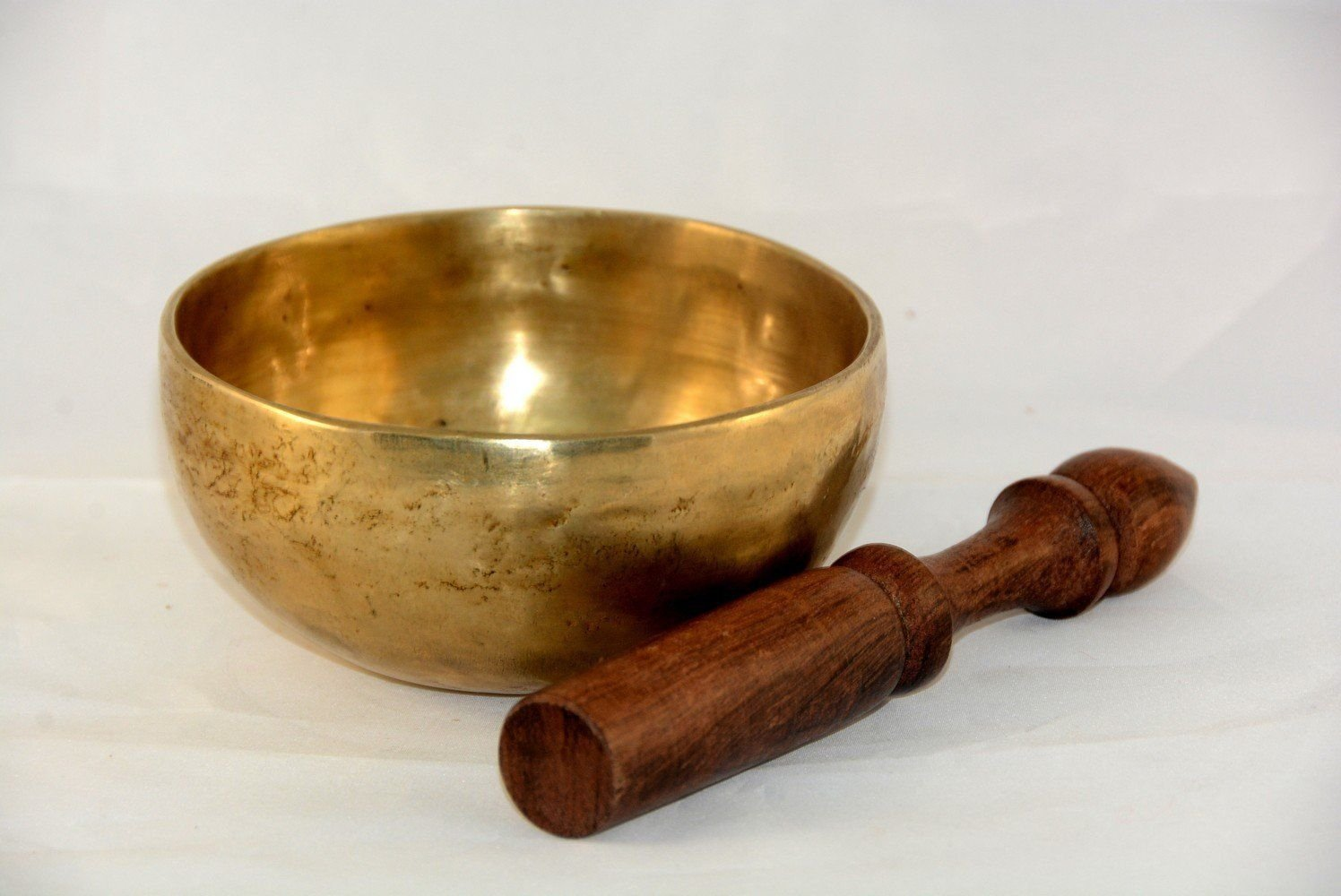 11 cm Tibetan singing bowl meditation with pillows and striker, Handmade Bowls by Nepalese Handicraft Zone NHZ