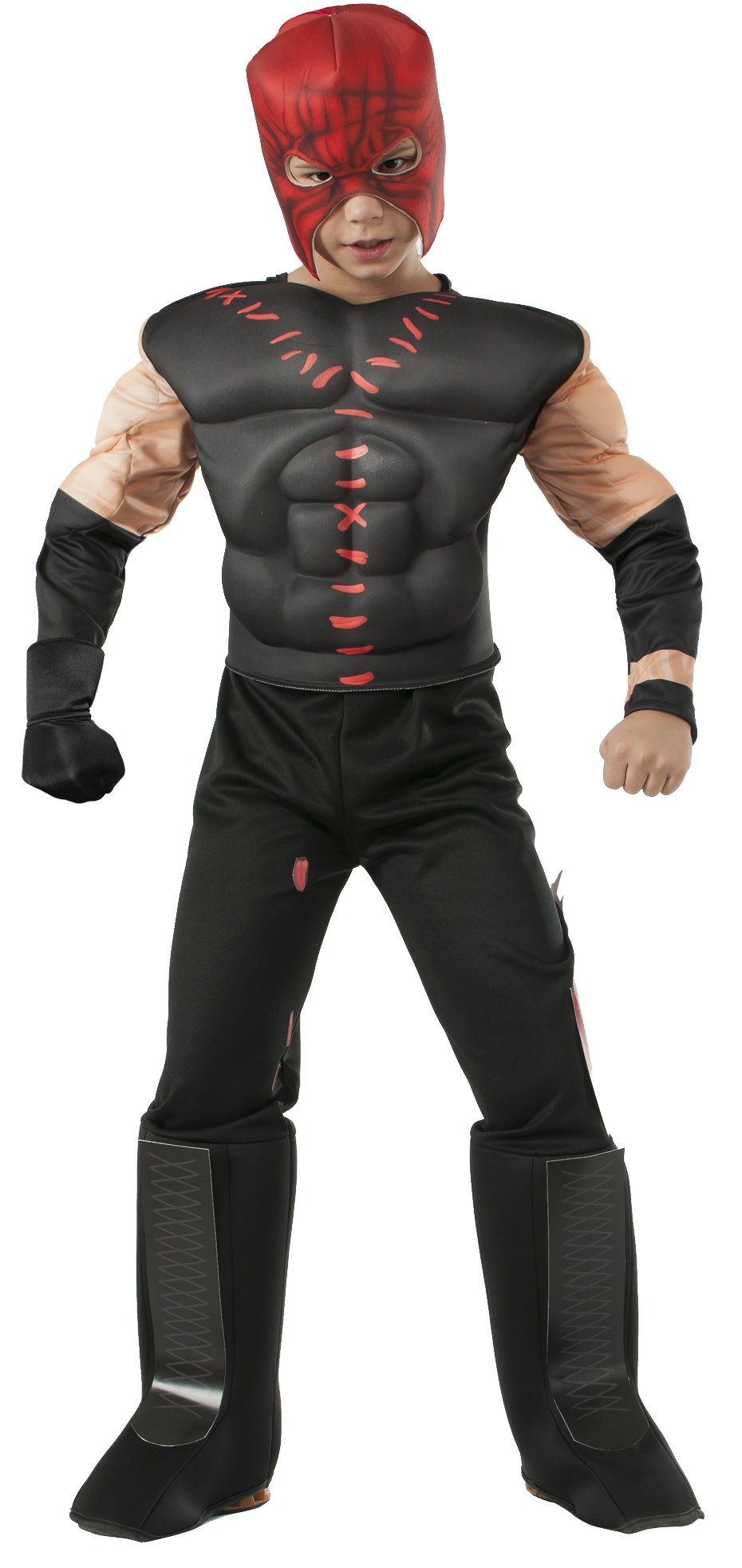 Rubies WWE Deluxe Muscle-Chest Kane Costume, Child Medium by Rubie's