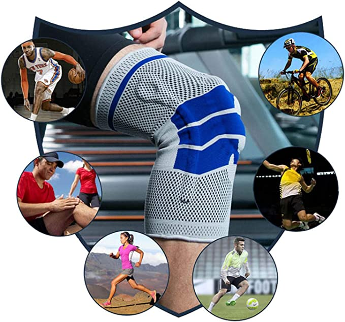 Snapmade Knee Brace Compression Sleeve - Scientifically Design Knee Pads Support for Meniscus Tear and Arthritis Relief, Professional Knee Sleeves, ...