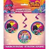 "Trolls Hanging Swirl Decorations 26""L 3ct. (1)"