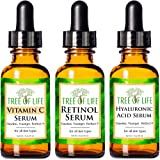 Anti Aging Serum Combo Pack - Vitamin C Serum - Retinol Serum - Hyaluronic Acid Serum - Anti Wrinkle Complete Regimen - Highly Natural And Organic Serums