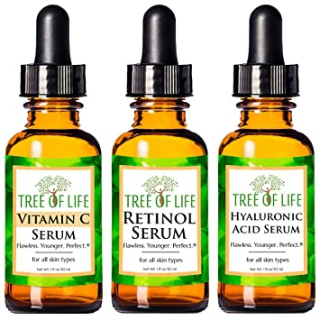 Amazon.com: Anti Aging Serum 3-Pack for Face - Vitamin C Serum ...