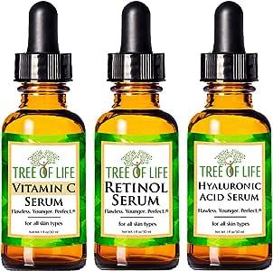 Anti Aging Serum Combo Pack - Vitamin C Serum - Retinol Serum - Hyaluronic Acid Serum - Anti Wrinkle Complete Regimen - Highly Natural And Organic Serums