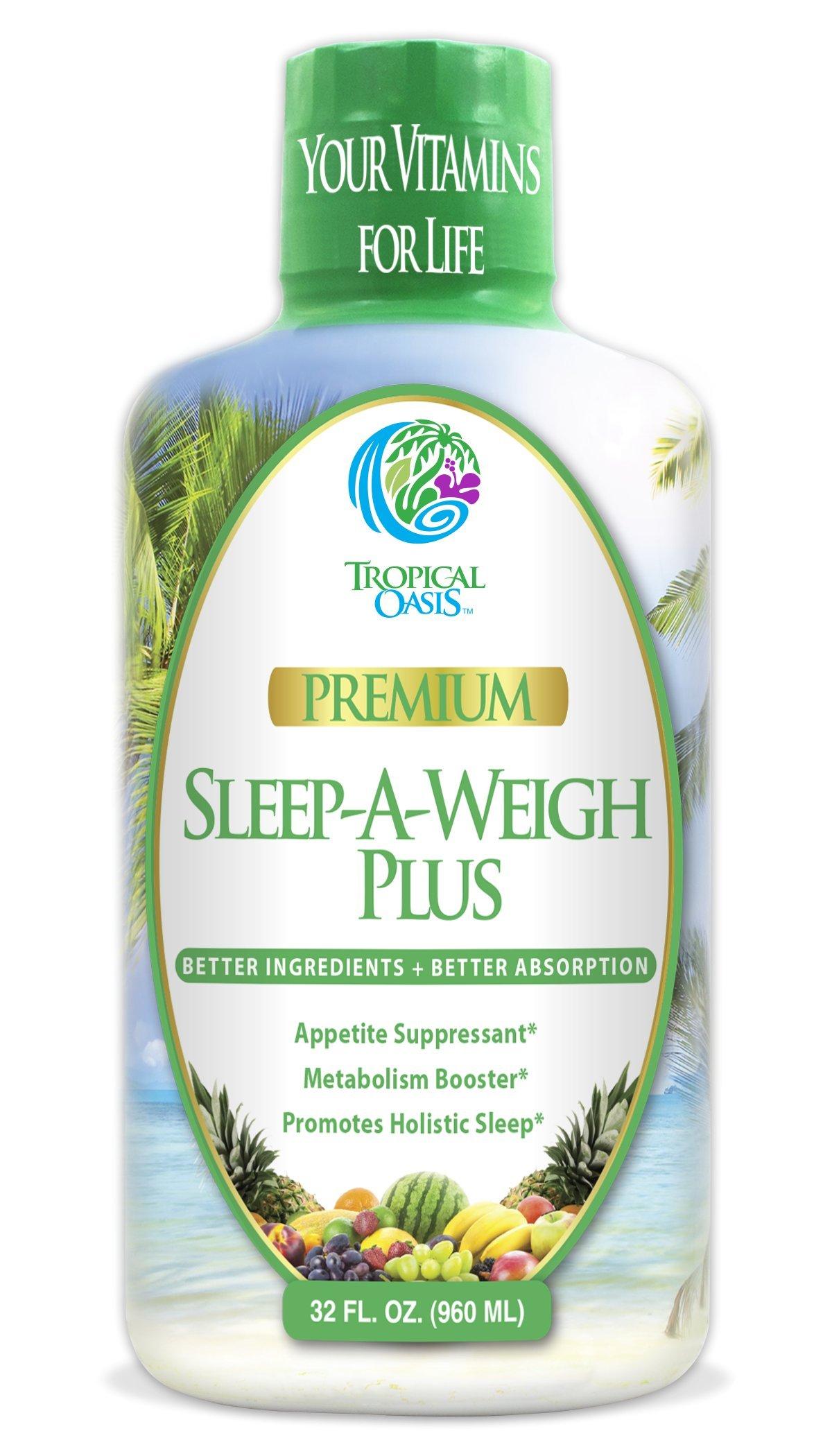 Sleep-A-Weigh Plus w/ Liquid Collagen - Natural Weight loss & Sleeping Aid - 32oz, 32 serv by Tropical Oasis