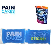"PAINCAKES Wrap Stickable Cold Pack That Stays in Place- Reusable Cold Therapy Ice Pack Conforms to Body, 1 Wrap (Blue- 10"")"