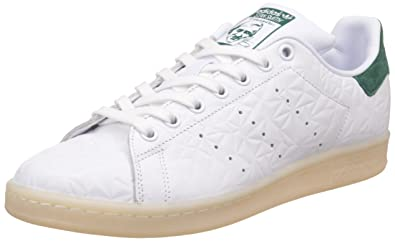adidas Stan Smith, Sneakers Basses Homme, Blanc (Ftwwht/Ftwwht/Cgreen), 39 1/3 EU