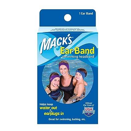 achat authentique vente de sortie grande remise de 2019 Mack's - Bandeau pour Piscine en Neoprene - Protège Oreille pour Enfant