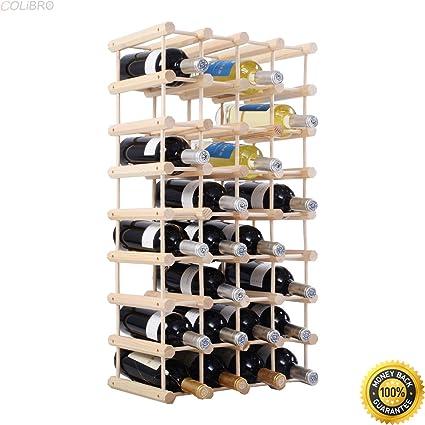 Amazon Com Colibrox New 40 Bottle Wood Wine Rack 5 Tier Storage