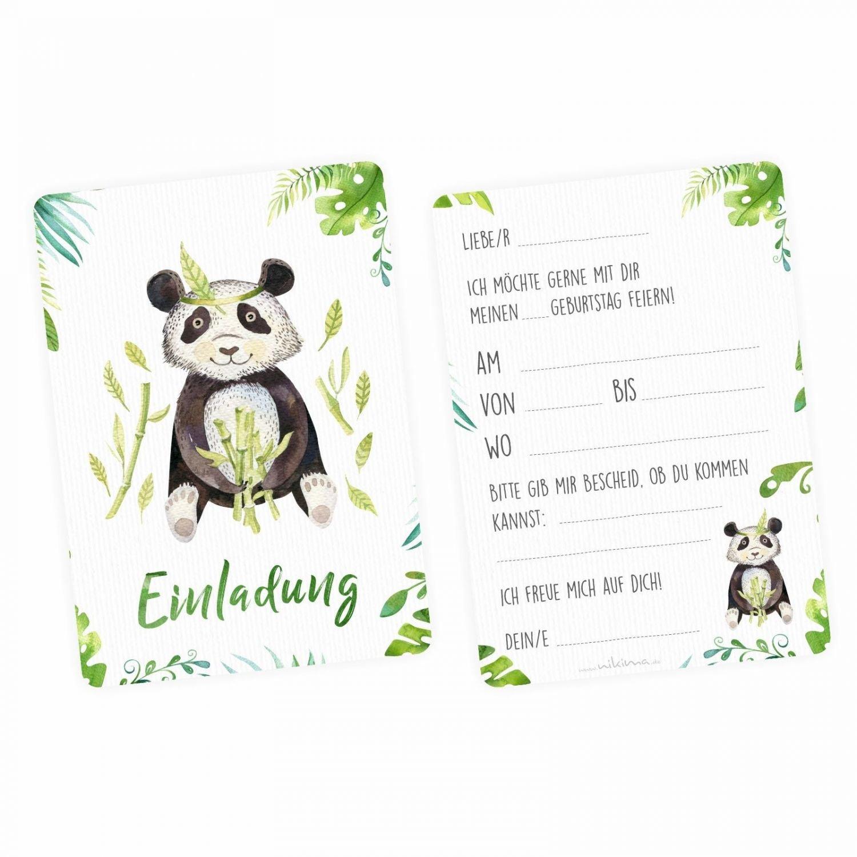 nikima - 5 tarjetas de invitación Juego - Cocodrilo, Panda, perezoso, jirafa, mono con 5 sobres Niños Cumpleaños Niña Niño Invitación y fiestas: Amazon.es: ...