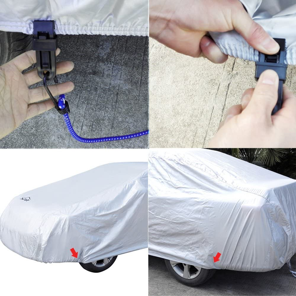 XCAR Breathable Dust Prevention Car Cover-Fits Sedan Hatchback Up to 200 Inch in Length